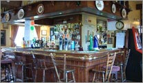 The bar at The Stag Inn